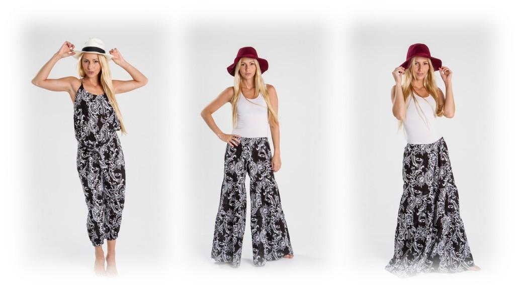 Turquesa, slow-fashion, enterizos y pantalones, Irene Piedra Batalla.