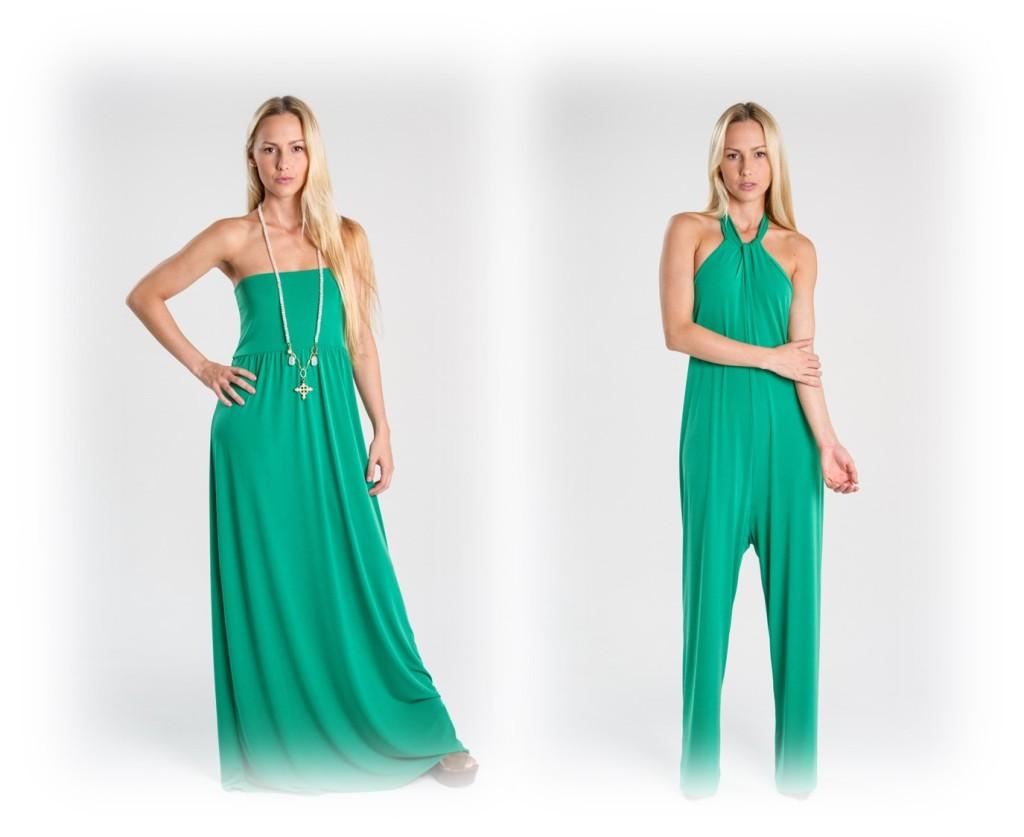 Turquesa, slow-fashion vestido largo y jumpsuit en lycra - Irene Piedra Batalla.