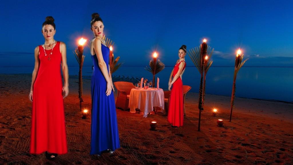 Noches románticas en las que el brillo está en tu look. Por Turquesa slow-fashion. Diseño de Irene Piedra Batalla.