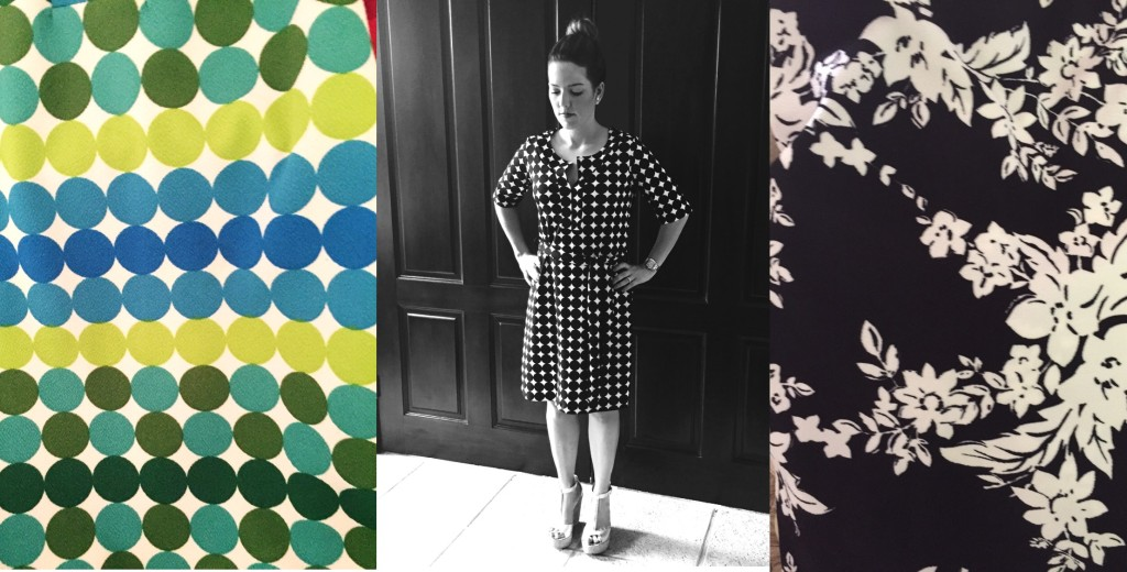 Turquesa slow-fashion, vestidos wrap en diversos estampados, en  tela Liverpool. Diseño de Irene Piedra Batalla.