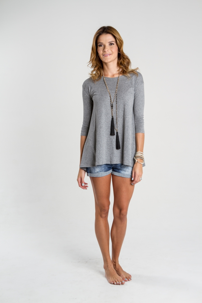 Blusón en algodón, diseño de Irene Piedra Batalla para Turquesa Slow-Fashion