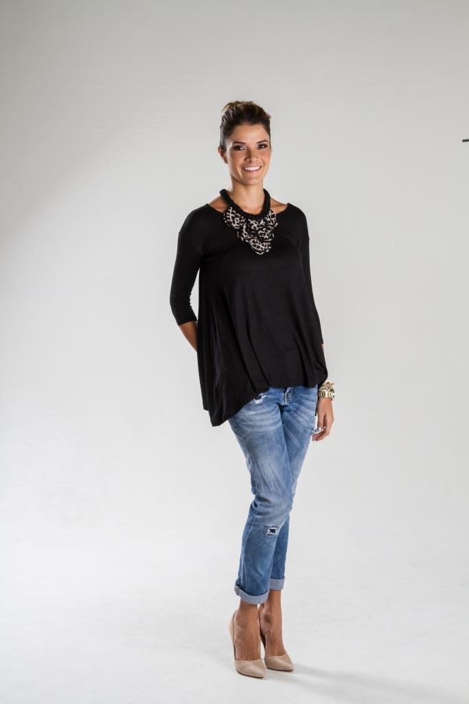 Blusón en algodón, diseño de Irene Piedra Batalla para Turquesa Slow-Fashion.