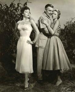 "Ava Gardner, Clark Gable y Grace Kelly en ""Mogambo"", película de John Ford, 1953."